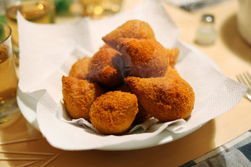 Coxinha de Galinha - Brazilian deep fried chicken croquette snack