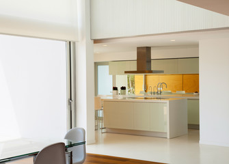 Modern architecture, beautiful kitchen of a luxury apartment
