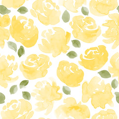 watercolor roses seamless pattern. vector illustration
