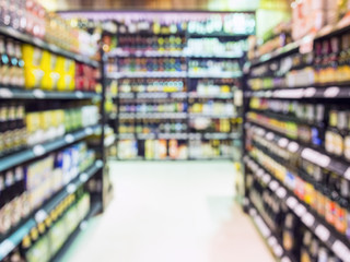 Blur shelf display Supermarket Retail Wholesale Business Grocery store
