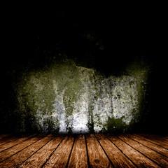 Empty room with wood floor.