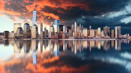 Fotomurales - Downtown of New York City, USA