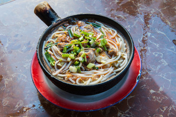 Chinese white noodle is the most popular Breakfast menu in china