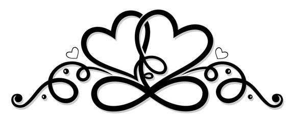 Unendlichkeit mit zwei Herzen, infinity.