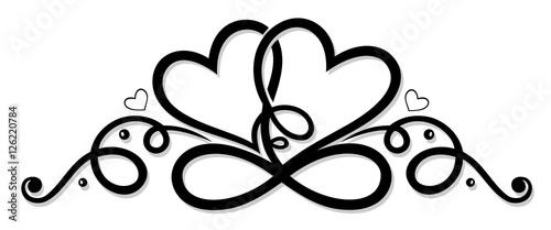 """""""Unendlichkeit mit zwei Herzen, infinity."""" Stockfotos und ..."""