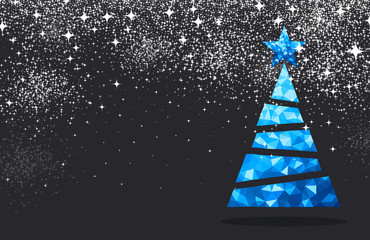 Fototapeta New Year background with Christmas tree. obraz