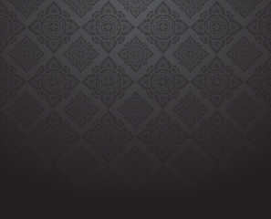 Line Thai, black color tradition abstract background