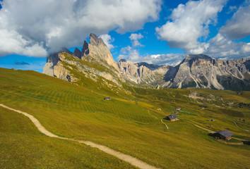 Seceda peak, Odle mountain range, Gardena Valley, Dolomites, Ita