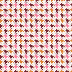 Houndstooth seamless pattern.