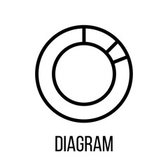 Diagram icon or logo in modern line style.