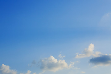 cloud and clear blue sky background