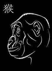 Symbol of year monkey