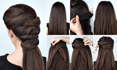 hairstyle with curly hair tutorial