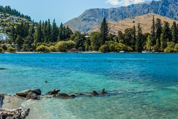 The Remarkables and Lake Wakatipu, Queenstown, New Zealand