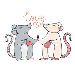 Rats in love.