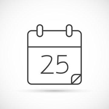 Calendar thin line icon