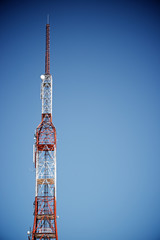 Telecommunications tower view
