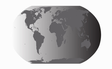 World map planet earth vector