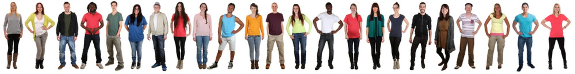 Junge Leute People Gruppe lachen glücklich multikulturell in ei