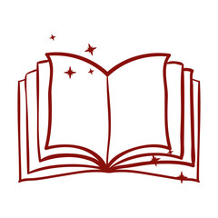 Book object icon. Education literature read and library theme. Isolated design. Vector illustration