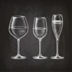 Set of wineglasses.