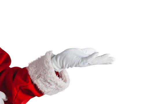 Santa Claus making hand gesture