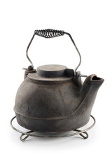 Cast iron kettle with grid support