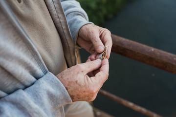 Older gentleman with a cigarette