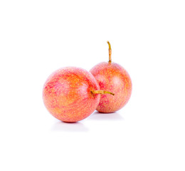 Fresh Passion fruit on white background