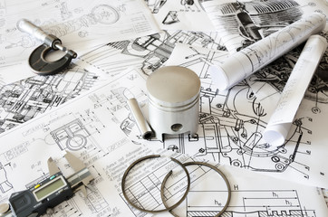 The piston and tools are on the drawings.