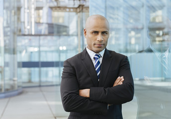 Portrait of an Afro American businessman