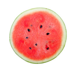 slice watermelon on white background