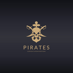 Pirates logo. Skull logotype