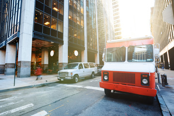 Food truck on the street