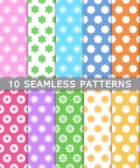collection of seamless patterns background, vector