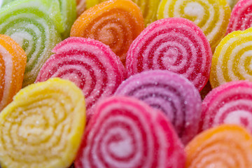 Close-up of colorful candy background