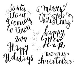 Happy new year lettering set