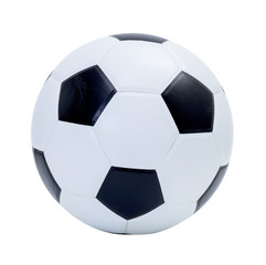 Soccer ball on white background; clipping path