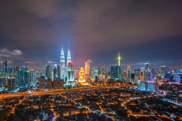Papiers peints Kuala Lumpur Aerial view of Kuala Lumpur city skyline