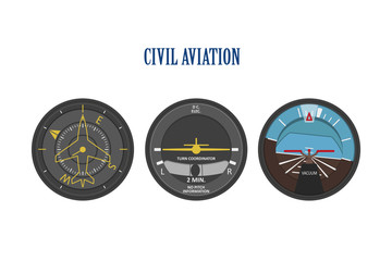 Control indicators of aircraft and helicopters. The instrument p