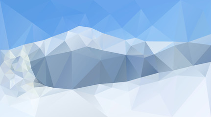 Winter mountain peaks and range vector background