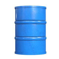 blue barrel isolated on white