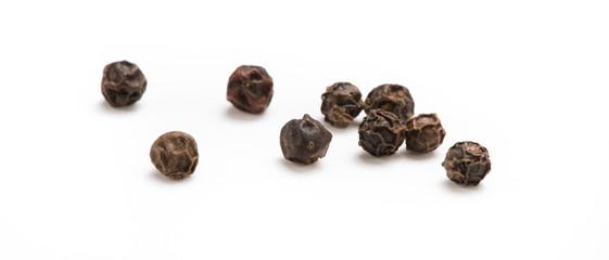 Fototapeta Black pepper isolated on white background. Spices. obraz