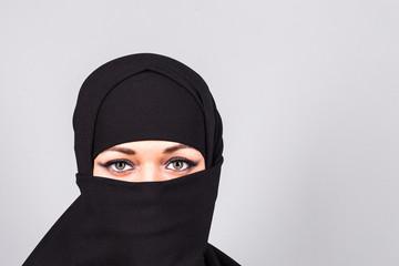 Girl wearing a niqab