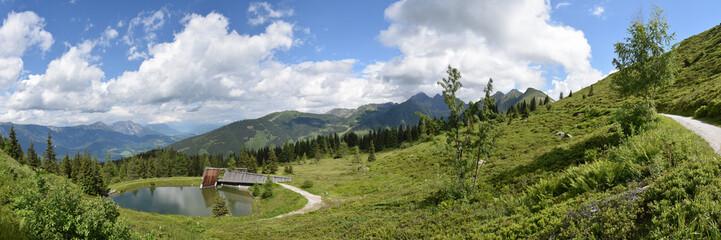 Panorama Planai See in der Steiermark