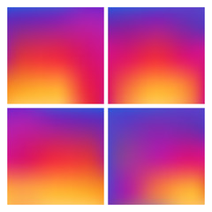 Set of Colorful gradient color Background