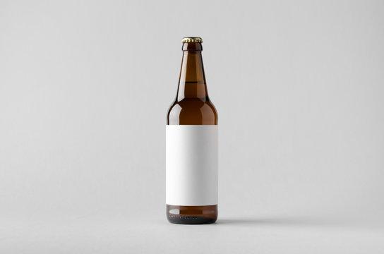 Beer Bottle Mock-Up - Blank Label