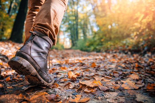 Hikers muddy boots