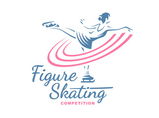 Figure Skating emblem illustration