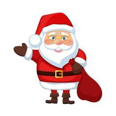 Santa Claus waves